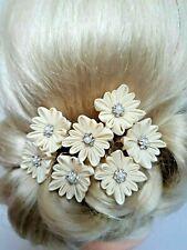 Kanzashi Blumen Haarkamm  Chiffon Satinblume Perlen Kopfschmuck Kanzashi*