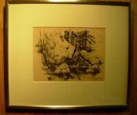 Christo Stefanoff Forgotten Master Canadian QC Artist Ink Sketch 1952 Framed