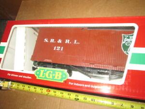 G Scale LGB Lehmann 48670 SR&RL Sandy River Boxcar in box.