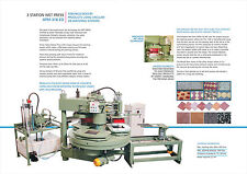 Terrazzo Tile, Flooring, and Wall Paver Manufacturing - 3 Station Wet Press