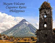 Philippines - MAYON VOLCANO CAGSAWA - Travel Souvenir Flexible Fridge Magnet
