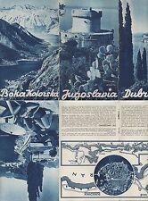 PUTNIK DUBROVNIK KOTOR, Prospekt 1939, Jugoslavija Opcinski Turisticki Odbor