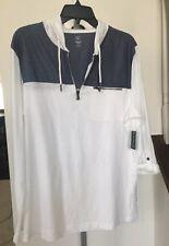 Inc Long Sleeve Knit Hoddie 1/4zipper White Pure Men's Shirt S L Nwt
