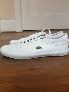 lacoste white trainers size 8