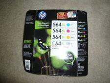 NEW! HP 564 XL Combo Pack-Cyan-Magenta-Yellow-Black OEM Genuine Original NIB