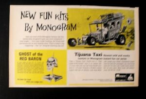 1969 Tijuana Taxi Monogram Wacky Custom Car Model Kit Series Oddball Toy Art AD