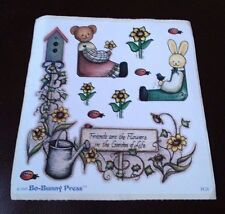 BO-BUNNY PRESS Scrapbooking Stickers TEDDY BEAR BUNNY GARDEN