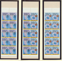 Marshall Islands Stamps Scott #40a, 42a, and 42b, Mint Never Hinged, 3 Booklets