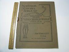 Vintage Northrup Coburn Dodge Metal Ceilings Walls Catalog 1910 Design Architect