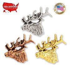 Elk Tie Tack Wildlife Tie Tack Stag Lapel Pin Hunting Pin Elk Lapel Pin Elk Tie Pin Antler Lapel Pin