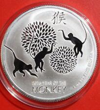 NIUE: 2 Dollars 2016 Year of the Monkey- Jahr des Affen, 1 oz,  #F 2529, rare
