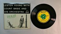 """BLUES JAZZ Lester Young with Count Basie and His Orchestra 45RPM 7"""""""