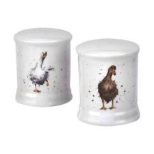 Wrendale Duck Salt & Pepper Pots Cruet Set Royal Worcester