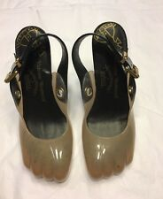 £210 VIVIENNE WESTWOOD x MELISSA heels shoes animal toe slingbacks 37 UK 4