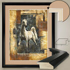 """32W""""x40H"""": ARCHITECTURAL HORSE by MARTA WILEY - DOUBLE MATTE, GLASS and FRAME"""