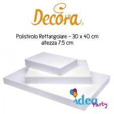 POLISTIROLO RETTANGOLARE 30 x 40 x H 5 cm Decora attrezzatura torta cake