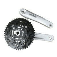 Silver Shimano Acera FC-M391 9 Speed Mountain Bike MTB Crankset 44-32-22T 170mm