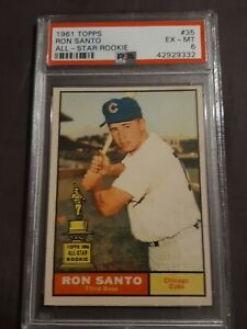 1961 Topps Ron Santo Chicago Cubs #35 All-Star Rookie Baseball Card