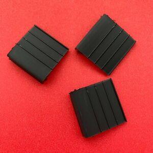 Hard PVC Black Pull Tabs for Window Screens 50 Pack