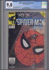 Web of Spider-Man Annual #2 CGC 9.0 1986 Marvel New Mutants App: New Frame