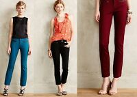 New Anthropologie Cartonnier Texture Charlie Slim Pants Red Teal Black 4 6 8 12
