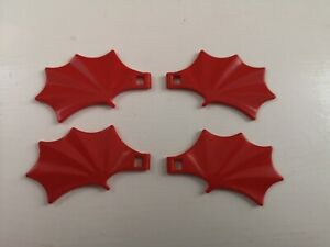 Lego - 4 Small Dragon Wings 7 x 4 Studs Red (6133)