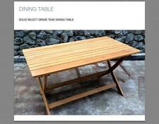 Outdoor furniture teak folding table raw  extension RTA