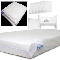 Baby Cotbed Quilted Waterproof Mattress Zipped Cover Cot Mattres Cover All Sizes