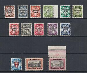 Deutsches Reich Michel-Nr. 716-729 ** postfrisch - Mi. 220.-