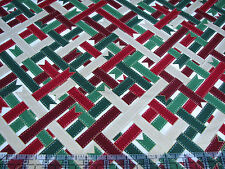 3 Yards Cotton Fabric - RJR Suite Christmas Grosgrain Ribbon Weave Gold Met SALE
