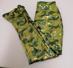 EX Topshop x Halpern Hologram Sequin Trousers size UK10 EUR 40  {B49}