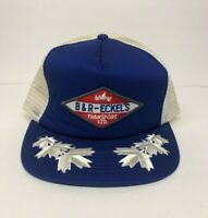 Vintage Trucker Hat B & R Eckel's Transport Ltd. Mesh Cap Patch Snapback Leaf