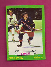 1973-74 TOPPS # 165 RANGERS BRAD PARK EX-MT  CARD (INV#2619)
