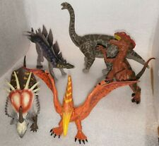 Awesome Lot 5 Dinosaur Poseable Jointed Plastic Toys Action Figures Collectables