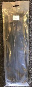 BLACK Tie Wraps/Cable Tidies Stong Plastic 300 x 4.8mm - NEW