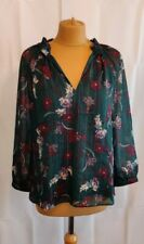 Hush Floral Phoenix Lurex Stripe Top/Blouse Green Size US 6/ UK10  BNWT