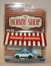 Greenlight 1/64 Scale Hobby Shop Classic VW Beetle Green Wheels Chase Car #114