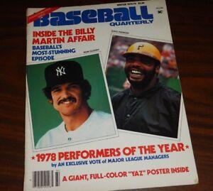 Baseball Quarterly Winter 1978-79  Ron Guidry Dave Parker Billy Martin