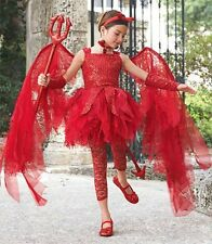 Wishcraft Chasing Fireflies Girls SIZE 8 Halloween Devil Costume + MORE