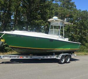1978 Blackfin 25ft boat, cuddy center console, offshore.New Trailer. No Reserve