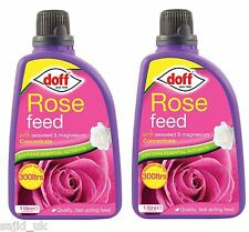 2x Doff Rose Flower Plant Feed Food Fertiliser Concentrate 1 Litre - FREE P&P