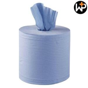 Blue Paper Roll 2 ply 150M x 19cm Embossed Centre Feed Pack of 6 by Workshop Plu
