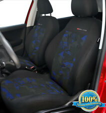 2 X CAR SEAT COVERS for front seats fit Skoda Fabia charcoal grey/blue
