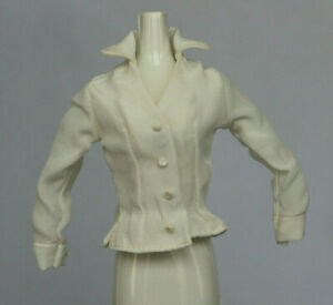 NEW Barbie Doll White Top Shirt Blouse Clothes Fashion Business Suit Fitted