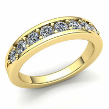 Promise Wedding Band Ring 14K Gold 2carat Round Cut Diamond Ladies Right Hand