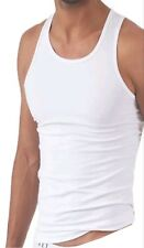 Luxury Long Staple Egyptian Cotton White Vest Sleeveless Underwear Mens