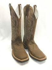 Olathe CowboyCollection Midnight Purple Bison Chocolate Horse Boots CC63 *NEW*