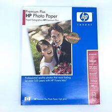 HP Premium Plus Photo Paper High Gloss White 8.5 x 11 50 Sheets Hewlett Packard