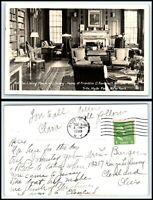 NEW YORK RPPC Photo Postcard - Hyde Park, Franklin Roosevelt House Interior R34