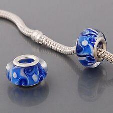 Glass BEAD European Style -blue - Buy 15 get a FREE BRACELET !